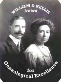 Julie's Genealogy - The William and Nellie Award for Genealogical Excellence